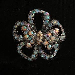 Jewelry - 🆕🔥ADD-ON ITEM - Blue Butterfly Flower Brooch